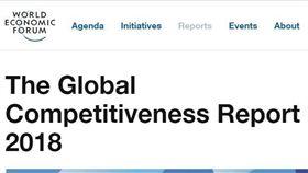 2018年全球競爭力報告(圖/翻攝自世界經濟論壇官網)