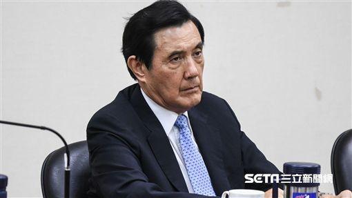 國民黨前主席馬英九出席中常會。 (圖/記者林敬旻攝)
