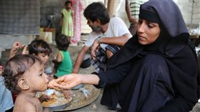 葉門瀕臨饑荒邊緣 1800萬人不知下一餐在哪(圖/取自World Food Programme推特)