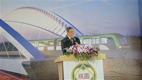 陳建仁副總統17日上午出席「桃園捷運綠線GC01標高架段(北段)土建統包工程開工祈福典禮」。(圖/總統府提供)