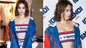 蔡依林(Jolin)香港出席品牌活動。(翻攝微博)