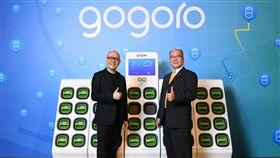 Gogoro換電陣營 宏佳騰及PGO加入繼台灣山葉(Yamaha)宣布加入Gogoro的換電陣營,明年即將在台灣推出電動機車後,Gogoro宣布,宏佳騰及摩特動力(PGO)也將以Gogoro的能源網路平台設計電動機車。(Gogoro提供)中央社記者田裕斌傳真 107年10月17日
