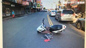 台中老翁穿越道路被撞死/翻攝畫面
