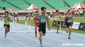 陳奎儒以13秒86破大會成績摘金。(圖/記者劉忠杰攝影)