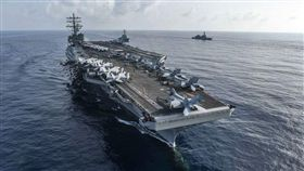 圖為美國航空母艦雷根號 圖翻攝自美國第七艦隊網頁www.c7f.navy.mil