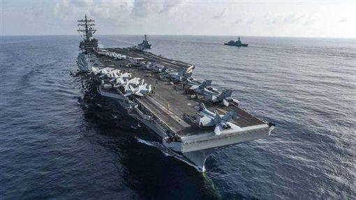 圖為美國航空母艦雷根號圖翻攝自美國第七艦隊網頁www.c7f.navy.mil