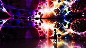 花博友達微美館全台最大556吋電視牆 呈現精湛科技與花卉之美(台中市政府提)