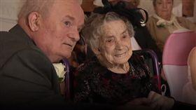 (圖/翻攝自Bla Bla 1 YouTube)英國,世紀,婚禮,人瑞,老少配