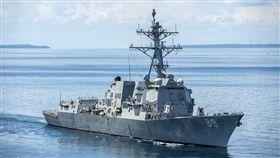 美國軍艦DDG89曾於七月航經台灣海峽,圖片來源美國海軍官網