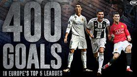 C羅締造歷史!轟五大聯賽400進球 C羅,Cristiano Ronaldo,尤文圖斯,皇家馬德里,曼聯 翻攝自推特Fox Soccer