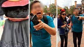 (圖/翻攝自梨視頻)上海,迪士尼,米奇,巴頭,玩偶,頭套,危險性