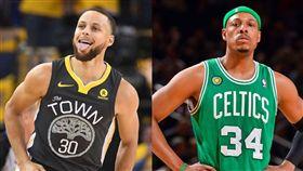 柯瑞超車皮爾斯 歷史三分榜前進一名 NBA,金州勇士,Stephen Curry,三分球,Paul Pierce 翻攝自推特