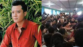 有「緬甸彭于晏」稱號的男星Min Thway喪禮。(翻攝微博)