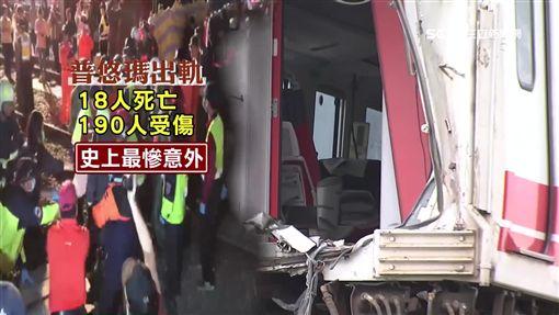 台鐵最慘意外!普悠瑪出軌 最新多角度影像曝