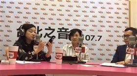 徐佳青接受訪問蔻蔻早餐談選情 (圖/翻攝自臉書)