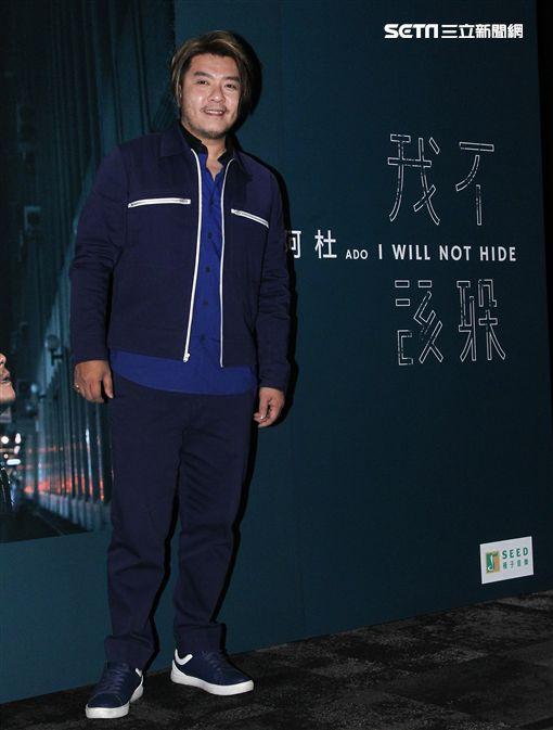 阿杜在新專輯「我不該躲」新歌分享會。(記者邱榮吉/攝影)