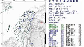 地震,芮氏規模,中央氣象局,餘震 圖/中央氣象局