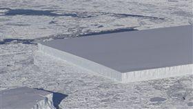(圖/翻攝自NASA ICE推特)南極,冰山,NASA,外星人,冰架