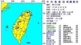 10/24凌晨餘震(圖/氣象局提供)