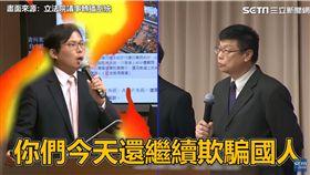 (圖/翻攝自三立新聞YouTube)台鐵,黃國昌,杜微,質詢,鹿潔身,ATP,打臉