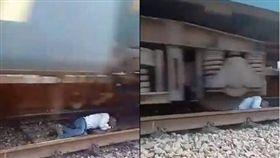 他越軌衰遇火車進站 靠這招保住小命 圖/翻攝推特
