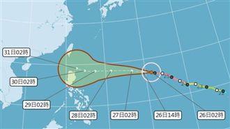 吳德榮:玉兔颱風將戲劇性急遽減弱