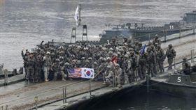 南韓下週將單獨進行為期5天的「太極演習」。(圖/美聯社/達志影像)