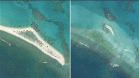 美國官員表示,猛烈颶風瓦拉卡侵襲一座偏遠的夏威夷小島後,這座島嶼大體上從地圖上消失,本週已派出海洋廢棄物的工作人員前往小島評估受災情況。(圖/翻攝自GD travel twitter)