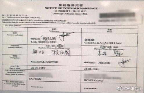 阿嬌結婚通知書/翻攝自新浪娛樂