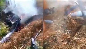中國直升機墜毀3人罹難 目擊民眾:突然一直轉圈圈 圖/翻攝自騰訊