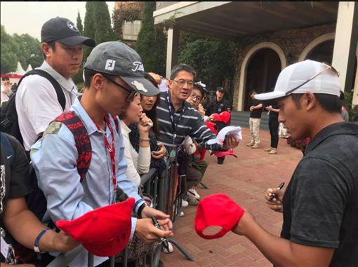 潘政琮在匯豐錦標賽擁有不少粉絲。(圖/翻攝自潘政琮IG)