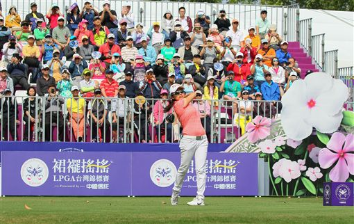 徐薇淩力爭LPGA首冠。(圖/裙襬搖搖高爾夫基金會提供)