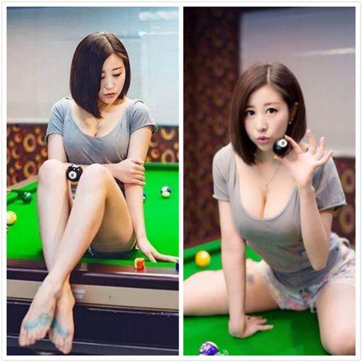 中國撞球界知名女裁判呂帥希。(圖/翻攝自呂萌希子微博)