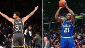 柯瑞飆破23年前紀錄 勇士扯破籃網 NBA,金州勇士,Stephen Curry,三分球,破紀錄 翻攝自推特