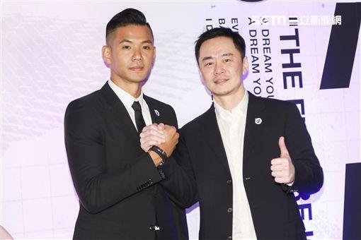ABL寶島夢想家領隊陳建州與董事長張承中。(記者林士傑/攝影)