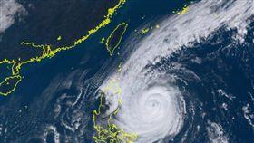 玉兔颱風 圖翻攝自向日葵衛星