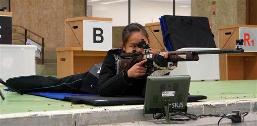 葉玟萱在50公尺步槍三姿中獲得銀牌。(圖/主辦單位提供)