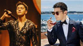 網傳陳偉霆(左)、黃曉明(右)兩大男神都將演出《鬢邊不是海棠紅》。(圖/翻攝自微博)