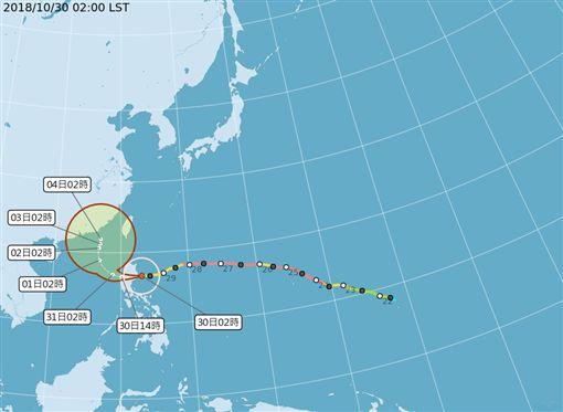 颱風玉兔未來路徑(圖/翻攝自中央氣象局)