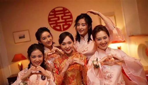 唐嫣,羅晉,伴郎,明道(圖/翻攝自新浪娛樂)