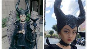 媽媽將女兒變裝成電影角色「黑魔女」。(圖/翻攝自臉書社團「爆廢公社」)
