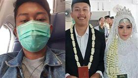 新婚丈夫搭上死亡班機,起飛前傳給妻子的自拍照成遺照。(圖/翻攝紐西蘭先驅報)