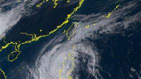 玉兔颱風1030 圖翻攝自向日葵衛星