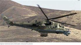 阿富汗,直升機,墜毀,塔利班,高官(圖/翻攝自Gandhara RFE/RL)