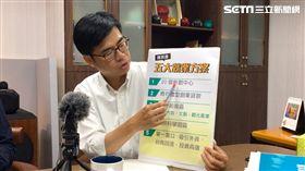 民進黨高雄市長候選人陳其邁,與「社會住宅推動聯盟」成員會談,並公布「五大就業方案」及「可負擔的住宅政策」。(圖/陳其邁辦公室提供)