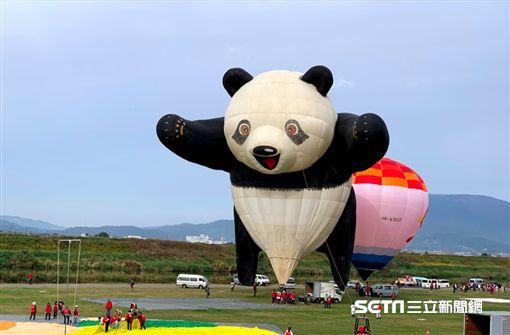 熱氣球,熱氣球節,全聯,福利熊。(圖/記者馮珮汶攝)