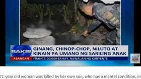 菲律賓,鐵鍊,毒品,肚子餓,分屍(圖/翻攝自GMA News)