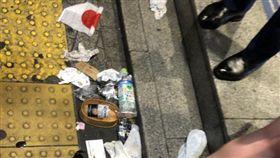 東京萬聖狂歡太嗨7人被逮 志工助清滿地垃圾(圖/翻攝自たか推特)