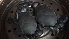 秋天,螃蟹,黑炭,燒焦,清蒸(圖/翻攝自爆廢公社)