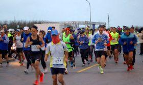 菊島跨海馬拉松賽   4日逆風而跑